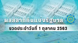 ตรวจหวย - ผลสลากกินแบ่งรัฐบาล งวดวันที่ 1 ตุลาคม 2563 : PPTVHD36